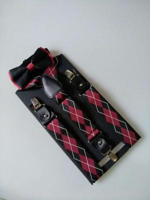 厂家直销 男士牛皮背 带过检针绅士铜扣 背带 领结套装背带