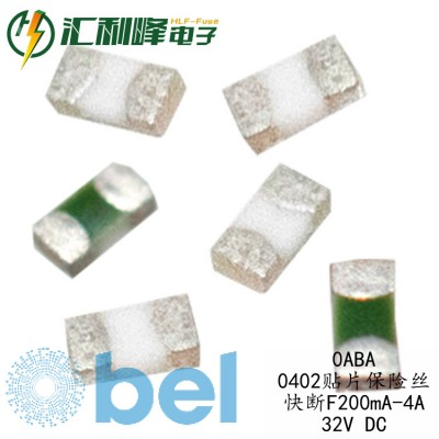 0ABA-1000-TN百富Belfuse快断F1A/32VDC表贴0402保险丝