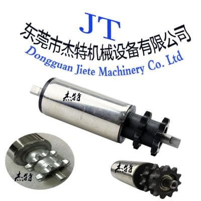 无动力滚筒 齿链轮辊筒 流水线滚筒输送托辊镀锌滚轴传送辊筒