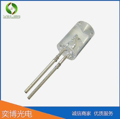 直插led5MM内凹暖白光透明灯珠插件LED灯珠发光二极管5mm内凹无边