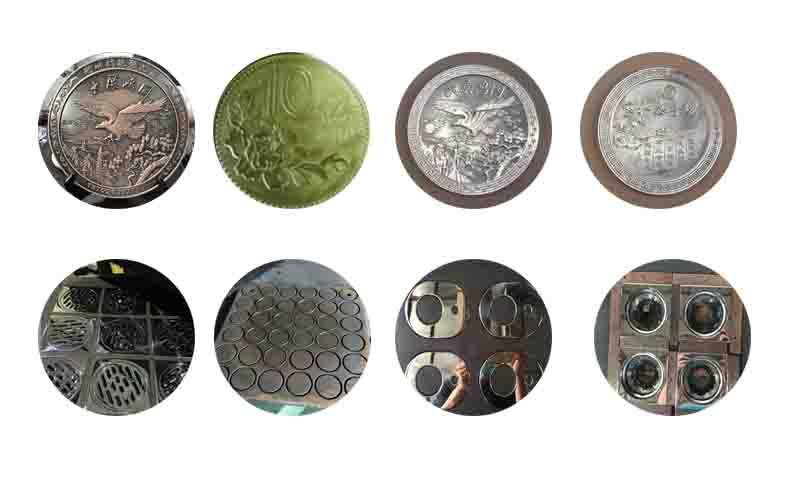 钮扣、奖牌、圆形标牌、地漏、箱包五金、皮具五金、拉牌、勾扣、锁匙扣、标牌、滴胶牌、铝制饰品、铁和不锈钢手镯等行业产品的专用抛光