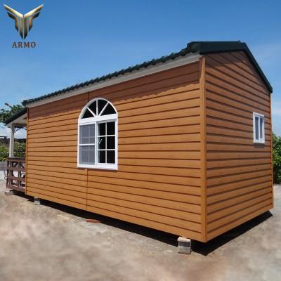 户外PS仿古木屋 庭院休闲仿木凉亭 景区移动防腐小木屋塑木板材
