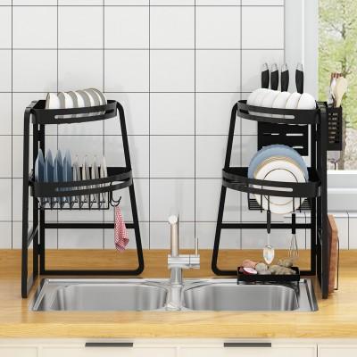 厨房转角水槽置物架台面碗碟沥水架家用砧板餐具储物收纳架