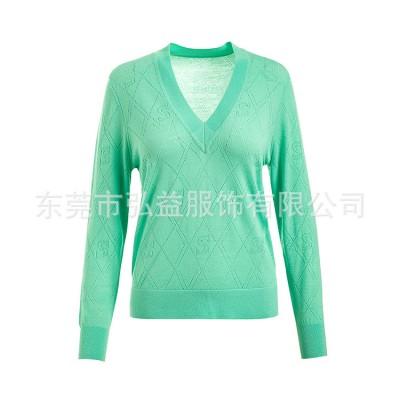 弘益服饰时尚透气性好的羊毛衫定制批发厂家 套头羊毛衫源头厂商
