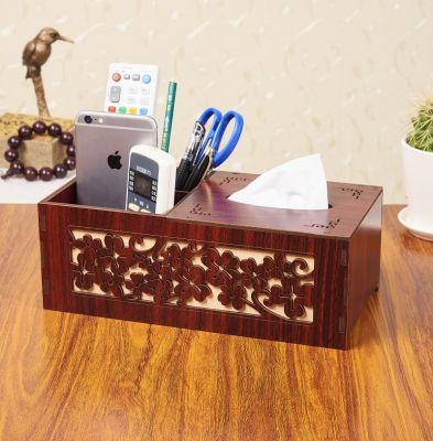 复古实木多功能纸巾盒客厅抽纸盒简约家居