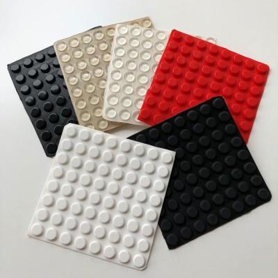 9448硅胶垫红色硅胶胶垫圆柱形10*4MM方形透明胶垫电器密封件椅垫