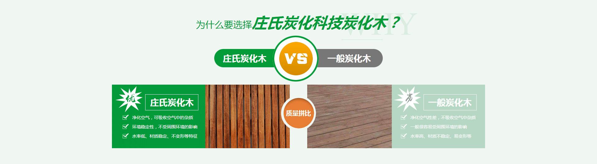 庄氏炭化科技炭化木对比