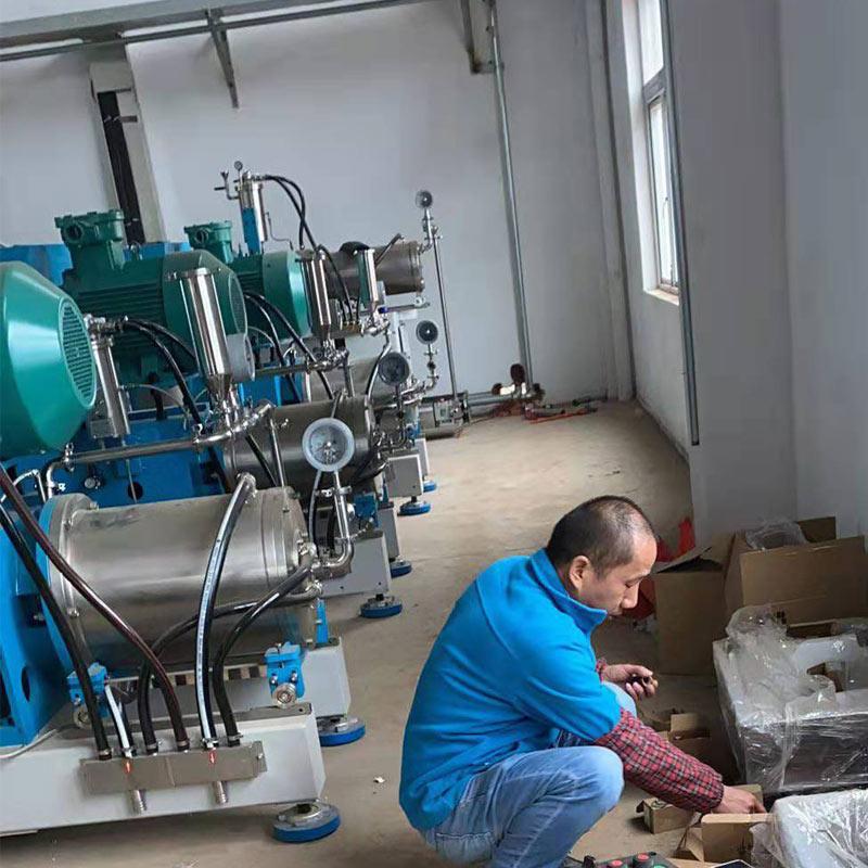 纳米棒销式砂磨机 生产型纳米砂磨机工程现场安装