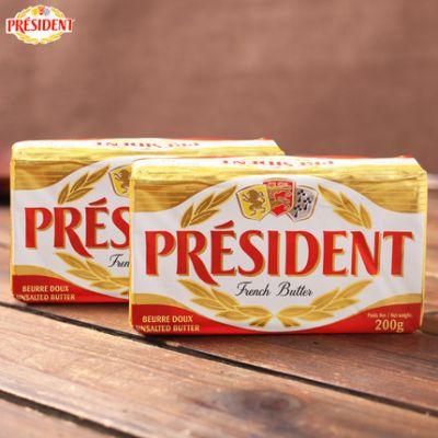 总统淡味黄油块200g