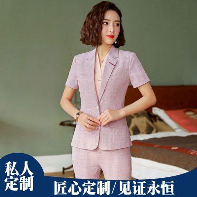 商务西服8921系列女款短袖套装 职业装定做 厂家直销