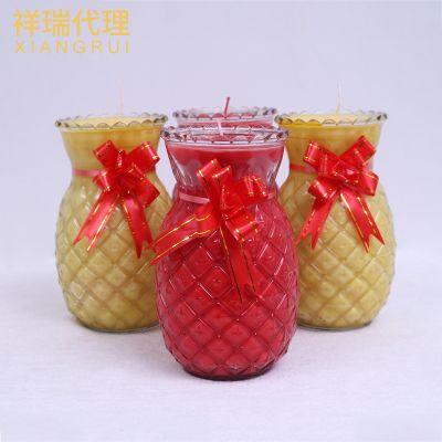 现货植物酥油蜡烛 菠萝无烟酥油灯 旺来佛教法会供灯厂家直销