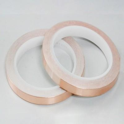 现货圆形电磁屏蔽自粘铜箔垫片 电子、电器单双导铜箔胶垫